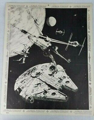 RARE STAR WARS MOVIE POSTER 1977 Tie X-wing, Millennium Falcon by Harley Copic 2
