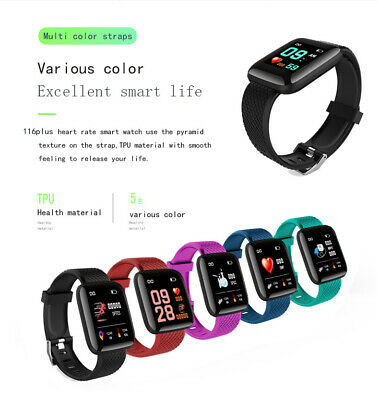 116Plus Smart Watch Bluetooth Heart Rate Blood Pressure Monitor Fitness Tracker 10