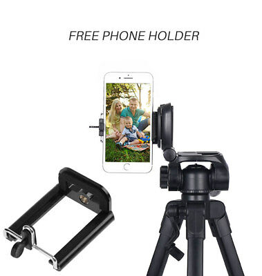JUSTOP Professional Pan Tilt Head DSLR Travel Tripod For Canon Nikon Sony Camera