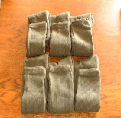 Military Army Over The Calf Green Boot Socks 6 Pairs Made In USA Various Sizes 4