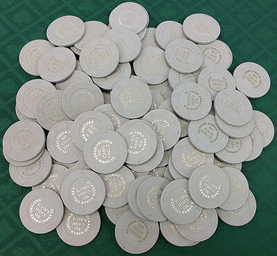 100 8-Suit Gray Ncv Classic Poker Cruises Casino Quality Chips - Free Shipping 4