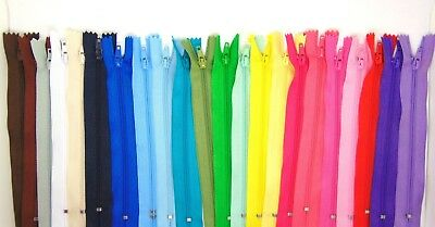 """6"""" 8"""" 10"""" Nylon Zips for Sewing & Crafts Zippers Closed End Auto Lock Colours 2"""