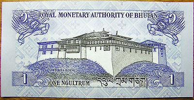 Bhutan 1 Ngultrum 2013 P-27b Banknotes UNC
