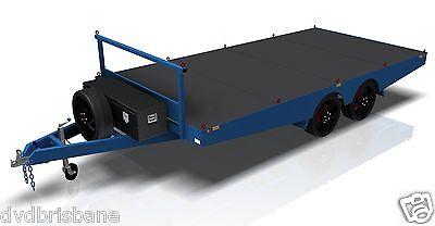 Trailer Plans- 4.8m FLAT TOP TRAILER PLANS- PRINTED HARDCOPY-Car Trailer,Flatbed 3