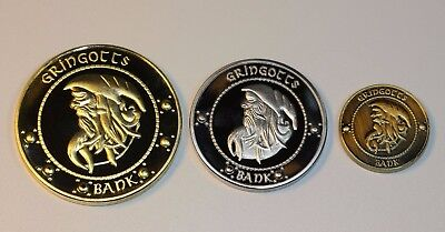 Harry Potter Hogwarts Gringotts Bank Wizarding coins Galleons commemorative coin 3