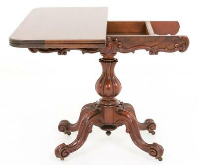 Victorian Mahogany Card Table - Games Tables 1860 9