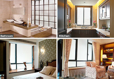 5 Of 9 Frosted Glass Film Static Cling Office Bedroom Bathroom Home Window  Tint