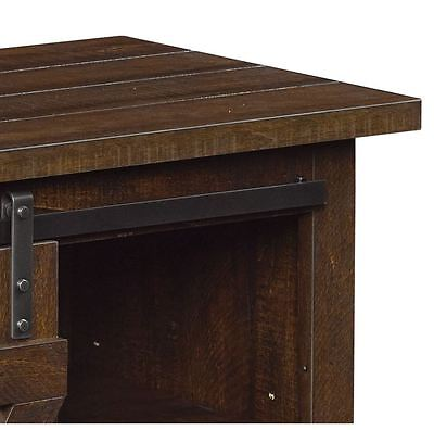 4 Of 7 Rustic TV Stand Console Up To 60 Barn Door Wood Farmhouse Entertainment Center