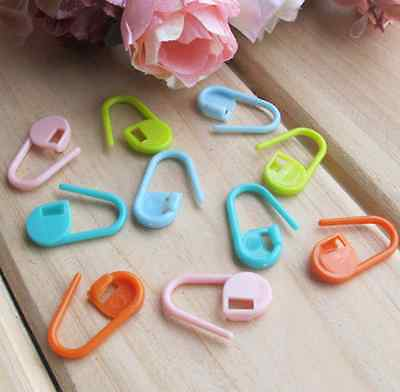 30xMini Colorful Knitting Crochet Locking Stitch Marker Holder Needle Clip Craft 2