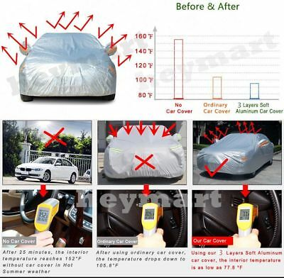 5 size Aluminum waterproof car cover rain resistant UV dust protect car cover 5
