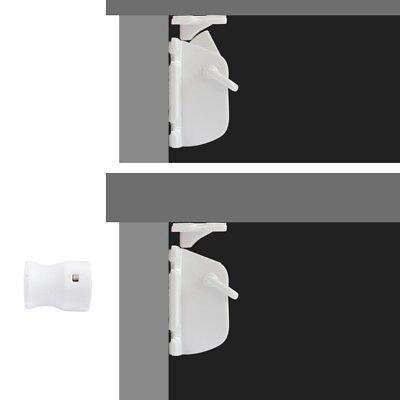 Safety concealed Magnetic Cabinet Locks-No Drilling-2 Locks+1 key 5
