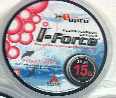 CLEAR 25 YARD SPOOL 100lb LEADER LINE EUPRO GT FLUOROCARBON 15lb