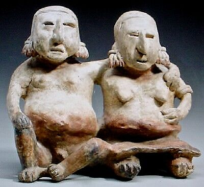 Pre-Columbian Jalisco Couple & Baby Ex Sothebys 12