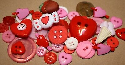 50//100//200 Children/'s//Baby Buttons 6-22 mm Round Hearts Flowers Pink White Blue