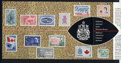 Weeda Canada VF 1968 Annual Souvenir Card #10 in original envelope CV $5 2