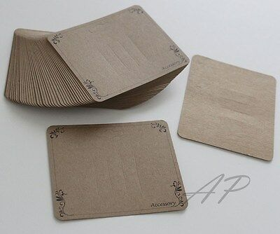 DC20 Wholesale..600pc  Scroll Imprint Hair Clip Display Card  in Kraft Paper