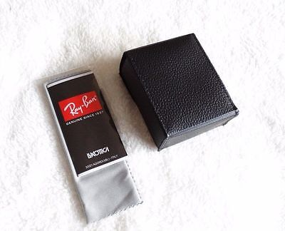 556049939f9 ... New RayBan Black Wayfarer Folding Sunglasses Case w  cleaning cloth 5