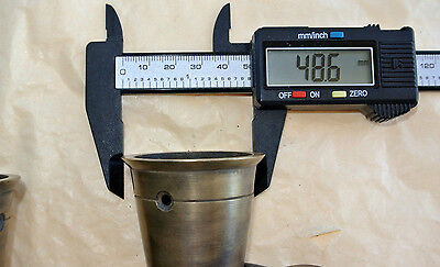 2 big CUP solid 100% Brass foot castors wheel chairs tables old style castorB 4