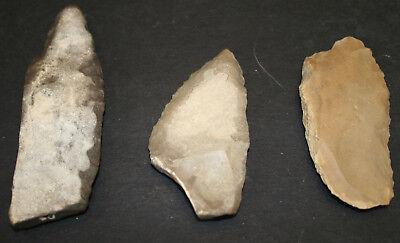 6 Egyptian Faiyum Predynastic Flint Flaked Hand Stone Tools 7400-6400 BC #1