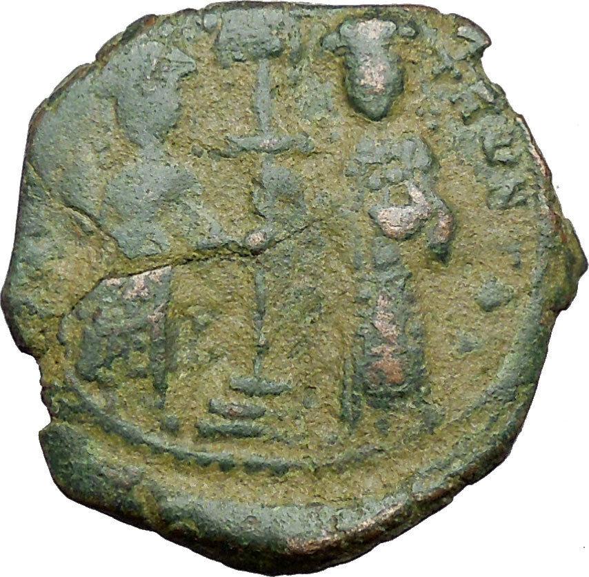 Constantine X & Eudocia 1059AD Medieval Byzantine Coin w JESUS Christ  i34401 2
