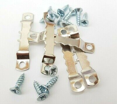 Saw Tooth Picture Hanger With Screws 45mm Canvas Hanging Nickel Multi Listing 5