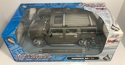 Maisto Playerz Hummer H2 Suv Grey 1:18 Scale Die Cast! Free Shipping 4