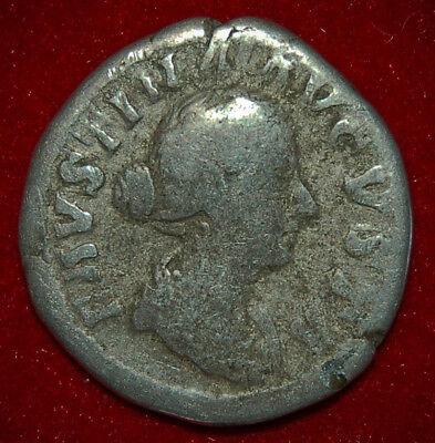 Ancient Roman Empire Coin Of FAUSTINA II Fecunditas On Reverse Silver Denarius 3