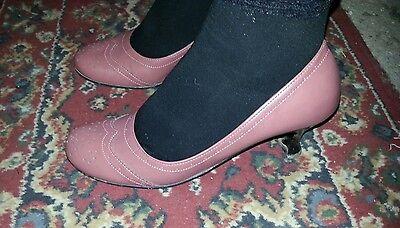 Donna Usate Antico 37 Tacco Rosa Basso Affare 5cm Décolleté Scarpe ACqwBdA b5a778ae140