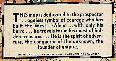 Pictorial Map Las Vegas Nevada Still a Frontier Town Boulder Dam Wall Art Poster