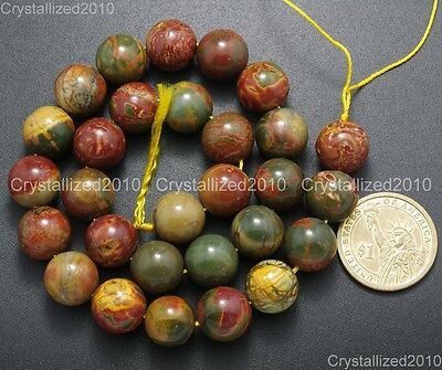 "Natural Picasso Jasper Gemstone Round Loose Beads 4mm 6mm 8mm 10mm 12mm 14mm 16"" 8"
