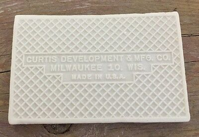 Antique 9 Or 6 Tile Curtis Development & MFG. CO. House Address 2.45X3.45 Inch 3