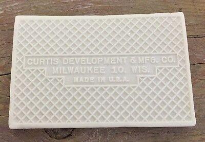 Antique Number 2 Tile Curtis Development & MFG. CO. House Address 2.45X3.45 Inch 3
