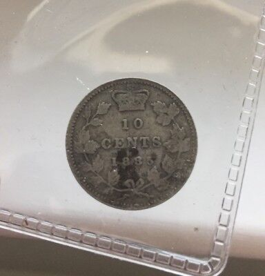 1885 AND 1909 Nice 10 Cents Dimes - Key Date Canada Silver Coins