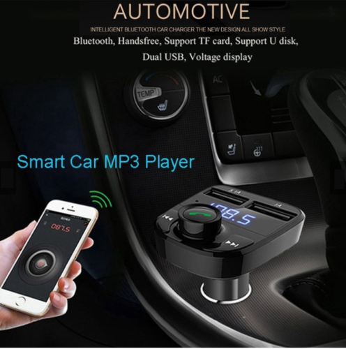 Bluetooth In-Car Wireless FM Transmitter MP3 Radio Adapter Car Dual USB Charger 5
