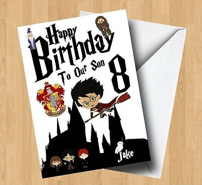 Personalised harry potter birthday card 289 picclick uk 2 of 3 personalised harry potter birthday card bookmarktalkfo Image collections
