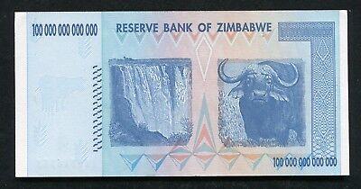 2008 100 Trillion Dollars Reserve Bank Of Zimbabwe, Aa P-91 Gem Uncirculated 2