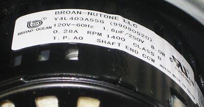 Broan Nutone S-97015162 Motor Blower Wheel for Model HD80 Series 4
