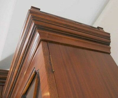 Mahogany Victorian Breakfront Bookcase Gothic Bookcases Furniture 2