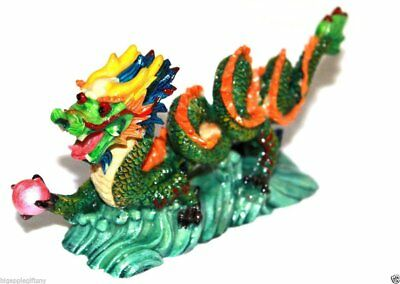 "NEW COLOR Chinese Feng Shui Dragon Figurine Statue for Luck & Success 6"" LONG 2"