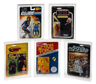 5 x GW Acrylic Display Cases ADC-011 Black Series 40th Anniversary Carded