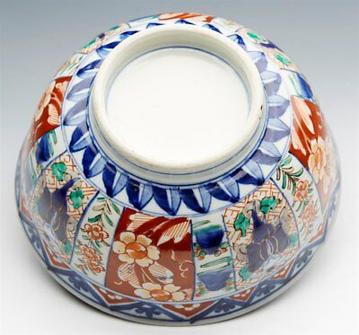 Superb Antique Japanese Meiji Imari Patterned Figural Porcelain Bowl 19Th C. 8