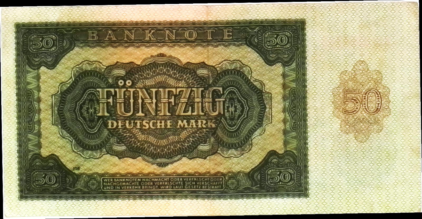 1948 Germany Communist DDR 50 Mark Banknote