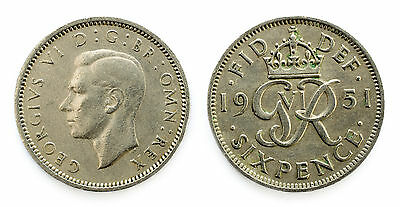 1937 To 1952 George Vi Lucky Silver Sixpences Choice Of Year / Date 3