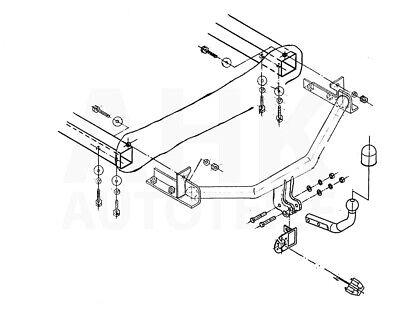 Für Seat Ibiza II 6K GP01 3//5-Tür Fließheck Anhängerkupplung starr+ES 13p ABE