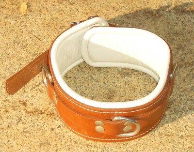 Halsfessel echtes Leder boundshop Neckcollar Fußfessel Handschellen 2