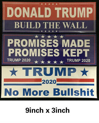 10 pcs Set Donald Trump Bumper Stickers 2020 Keep America Great Train Sticker 6