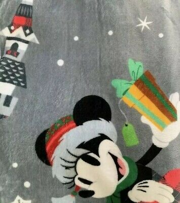 Disney Parks Santa Mickey Nordic Winter Christmas Holiday 2018 Throw Blanket 2