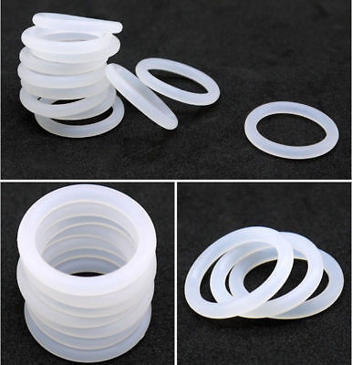 White Silicon Rubber O-Ring Seals Washer Food Grade OD 10-48mm Cross Section 3mm 5