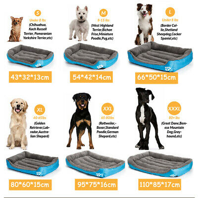 Large Pet Dog Cat Bed Puppy Cushion Mats House Waterproof Kennel Warm Blanket UK 7