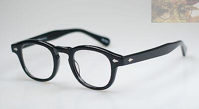 dd022aac87 2 of 5 Vintage Johnny Depp eyeglasses frame mens black acetate eyewear  Spectacles RX